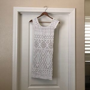 Bebe white bodycon dress